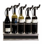 Wine Saver 5 Bottle Unit, Stainless Rack, Black Poly Door